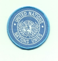 UNITED NATIONS CLOTH SLEEVE BADGE