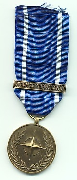 NATO MEDAL with clasp: FORMER YUGOSLAVIA