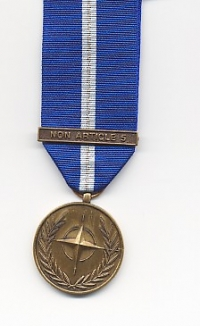 NATO MEDAL with clasp: NON-ARTICLE 5
