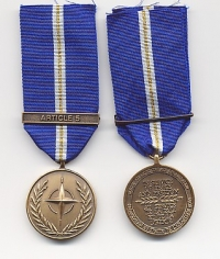 "NATO MEDAL for ""EAGLE ASSIST"""