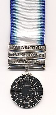 THE ANTARTIC SERVICE MEDAL