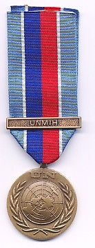 UNITED NATIONS MEDAL WITH CLASP UNMIH (HAITI)