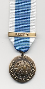 UNITED NATIONS MEDAL WITH CLASP UNAMA (AFGHANISTAN)