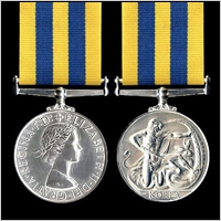 British Campaign Medal for the Korean War 1950-53.