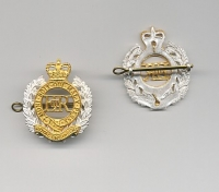 ROYAL ENGINEERS: OFFICERS CAP BADGE.