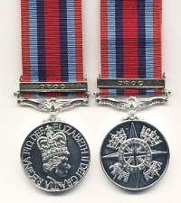 OPERATIONAL SERVICE MEDAL with clasp: DROC