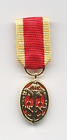 KNIGHTS BACHELOR BADGE -  SILVER-GILT MINIATURE