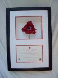 "FRAMING FOR ""TOWER OF LONDON"" POPPY"