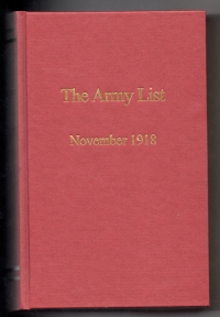 THE ARMY LIST: NOVEMBER 1918