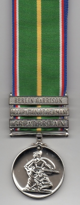 NATIONAL DEFENCE MEDAL WITH THREE CLASPS