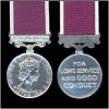 ARMY LONG SERVICE and GOOD CONDUCT MEDAL.