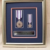 DISPLAY FRAMING FOR QUEEN'S DIAMOND JUBILEE MEDAL