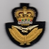 ROYAL AIR FORCE : OFFICERS BERET BADGE: QUEEN'S CROWN