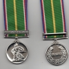 NATIONAL DEFENCE MEDAL WITH GREAT BRITAIN CLASP